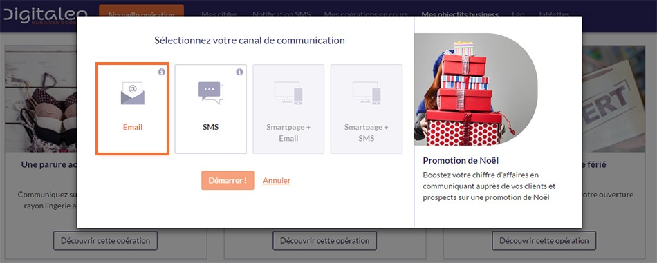Choisir le canal emailing