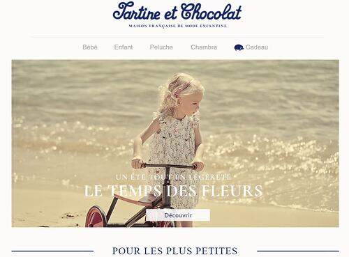 Exemple de la marque Tartine et Chocolat