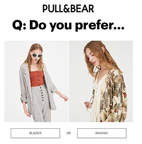Exemple de la marque Pull & Bear