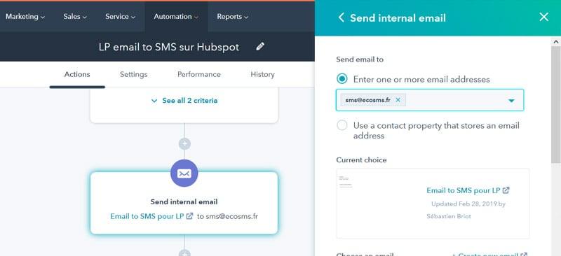 hubspot sms workflows
