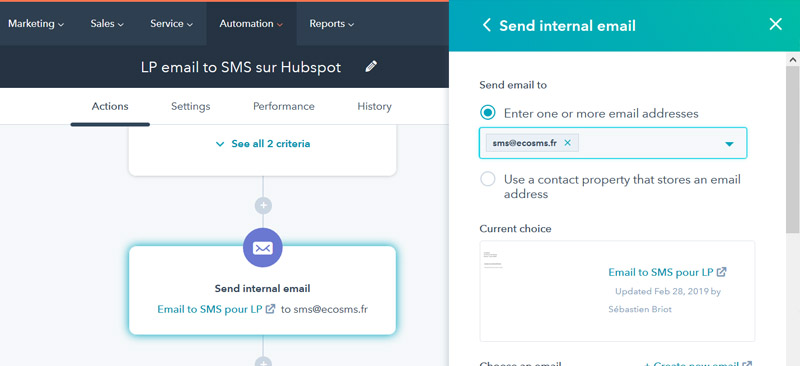 hubspot sms workflows