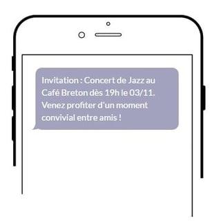 Exemple SMS pro dans la restauration