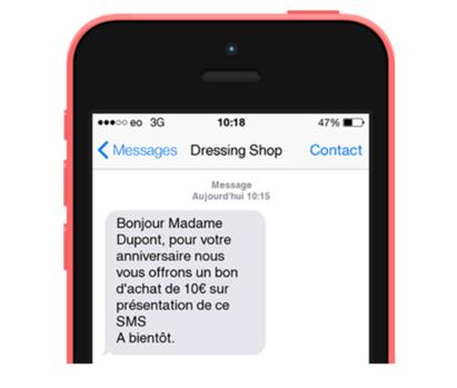 SMS personnalisé
