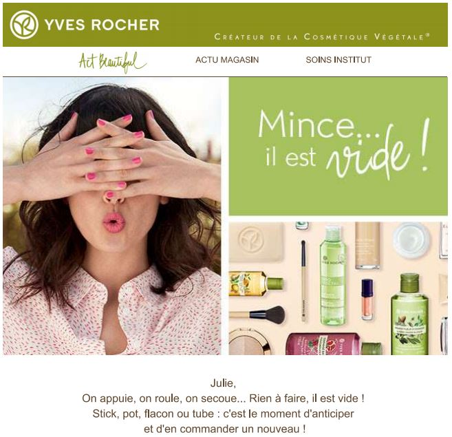 Exemple Yves Rocher