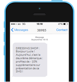 TPOA non personnalisé SMS