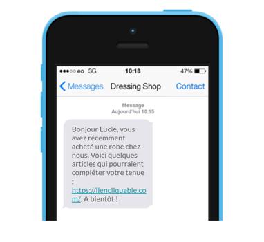 SMS avec CTA