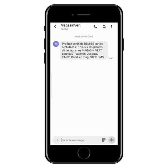 Exemple SMS événement