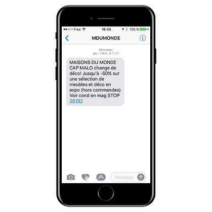 Envoi sms marketing