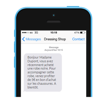 SMS de cross-selling