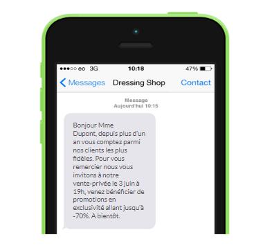 SMS de fidélisation