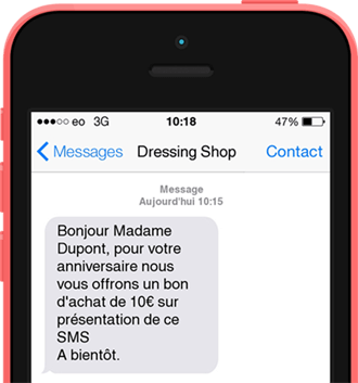 SMS professionnel