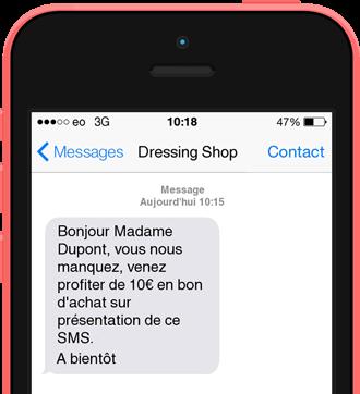 Exemple de SMS Client inactif