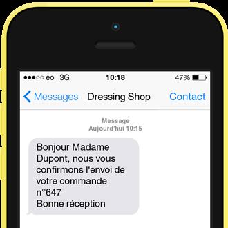 Exemple de SMS Confirmation