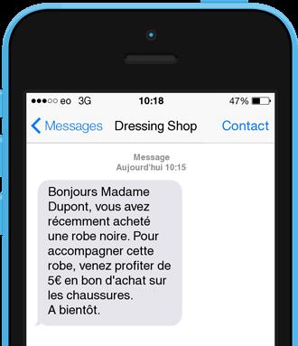 Exemple SMS de Cross Selling
