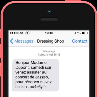 Exemple de SMS événementiel