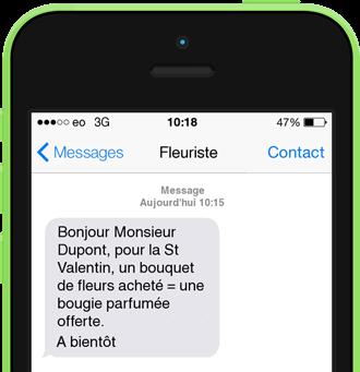 Exemple de SMS promotionnel