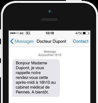 Exemple SMS Rappel de Rendez-vous
