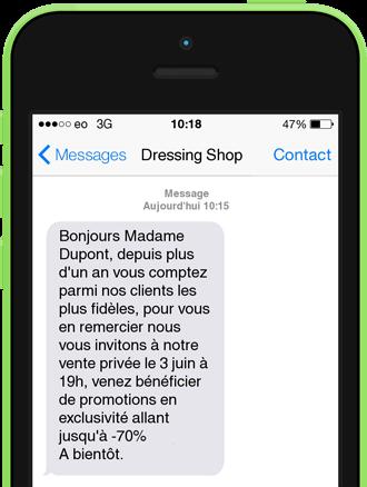 Exemple de SMS fidélité