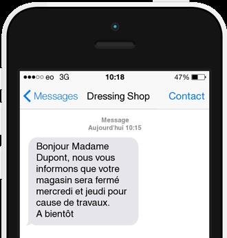 Exemple de SMS informationel