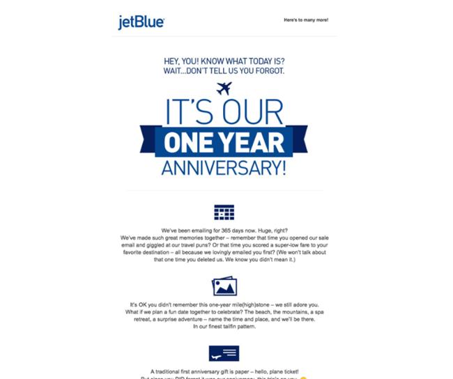 Exemple JetBlue