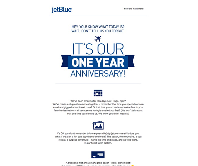 Exemple JetBlue