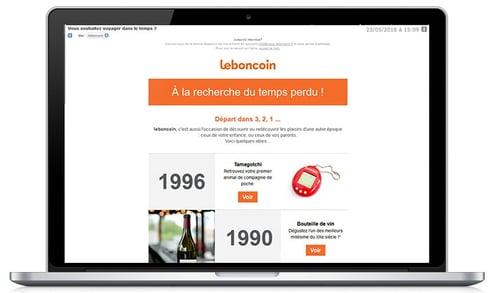 Newsletter Le Bon Coin version ordinateur