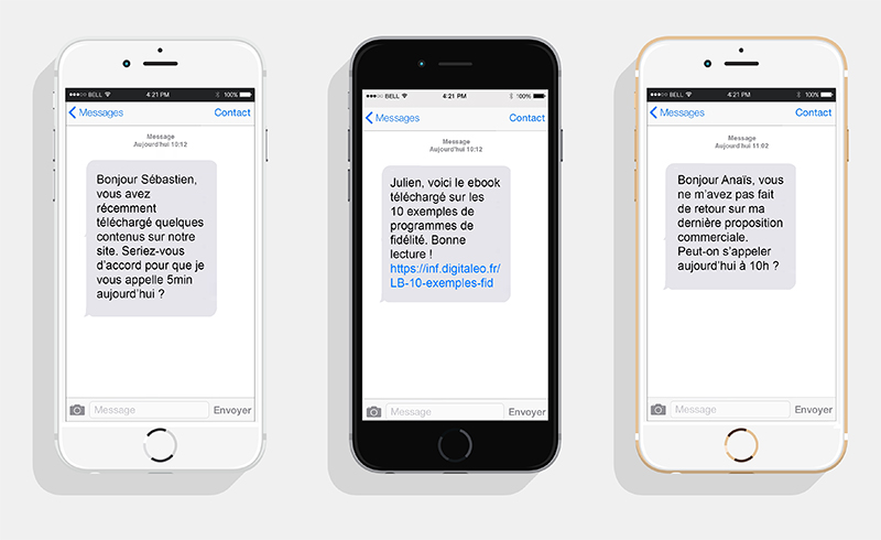 hubspot sms exemples