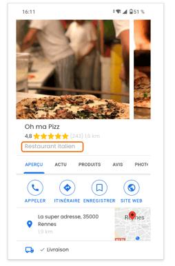 fiche GMB - oh ma pizz