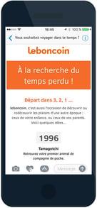 Newsletter Le Bon Coin version smartphone