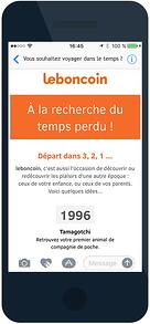 Newsletter Le Bon Coin version smartphone