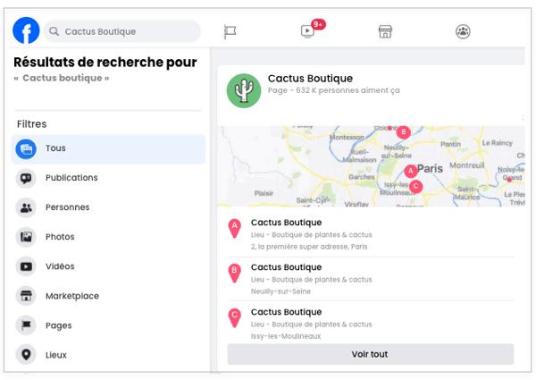 Facebook - comment créer une structure de pages Lieux pour votre enseigne - 4