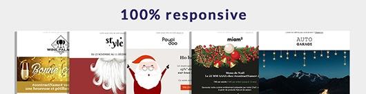 20 templates emails gratuits pour Noël et pour la nouvelle année