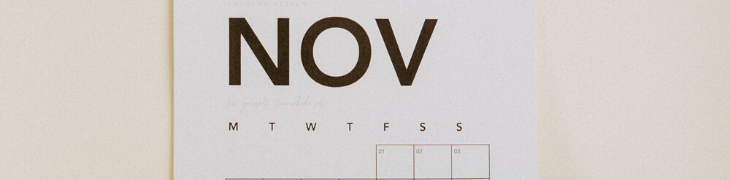 Calendrier marketing mois novembre