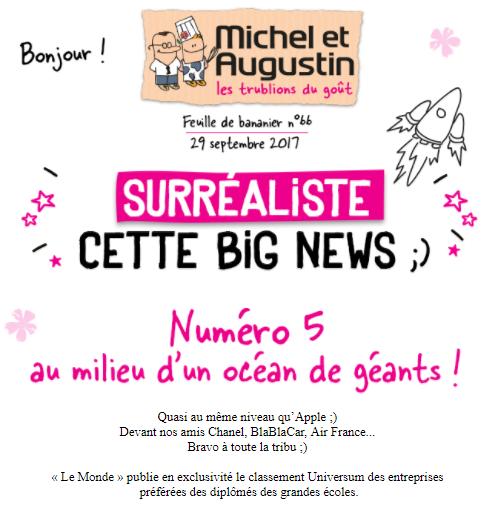 Exemple campagne Michel et Augustin